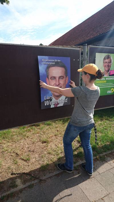 Wahlkampf in Eime -